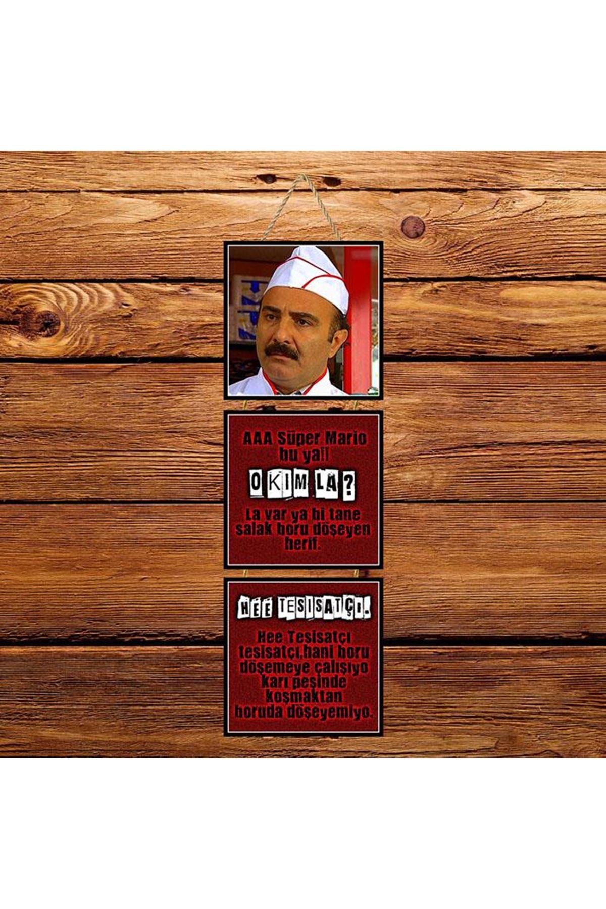 Erdal Bakkal -  3'lü Kabartmasız Poster