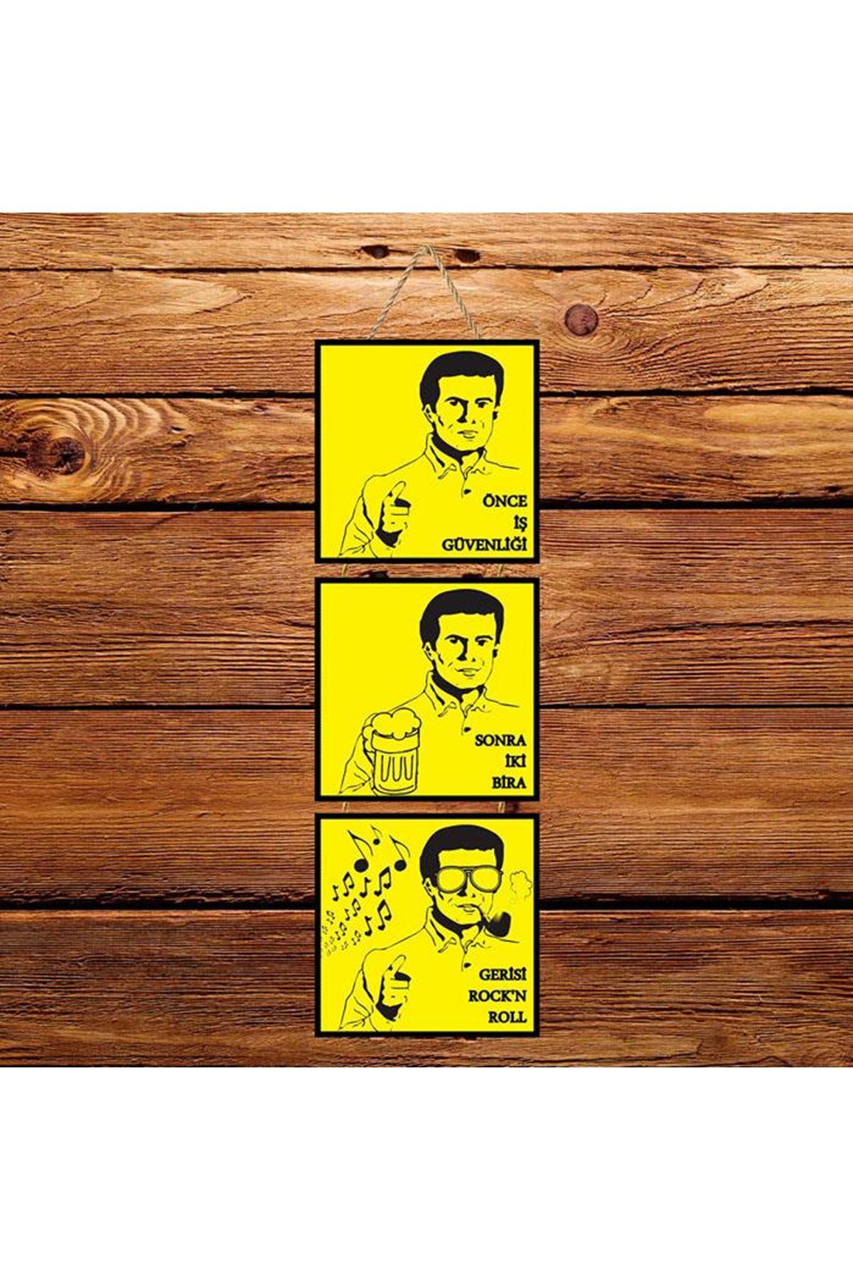 Önce İş Güvenliği -  3'lü Kabartmasız Poster