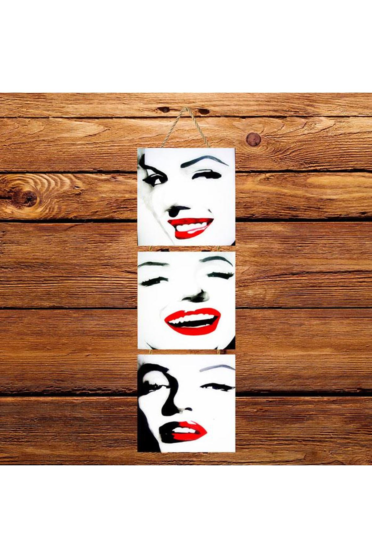 Marlyn Monroe Gülümseme  -  3'lü Kabartmasız Poster Kopyası Kopyası