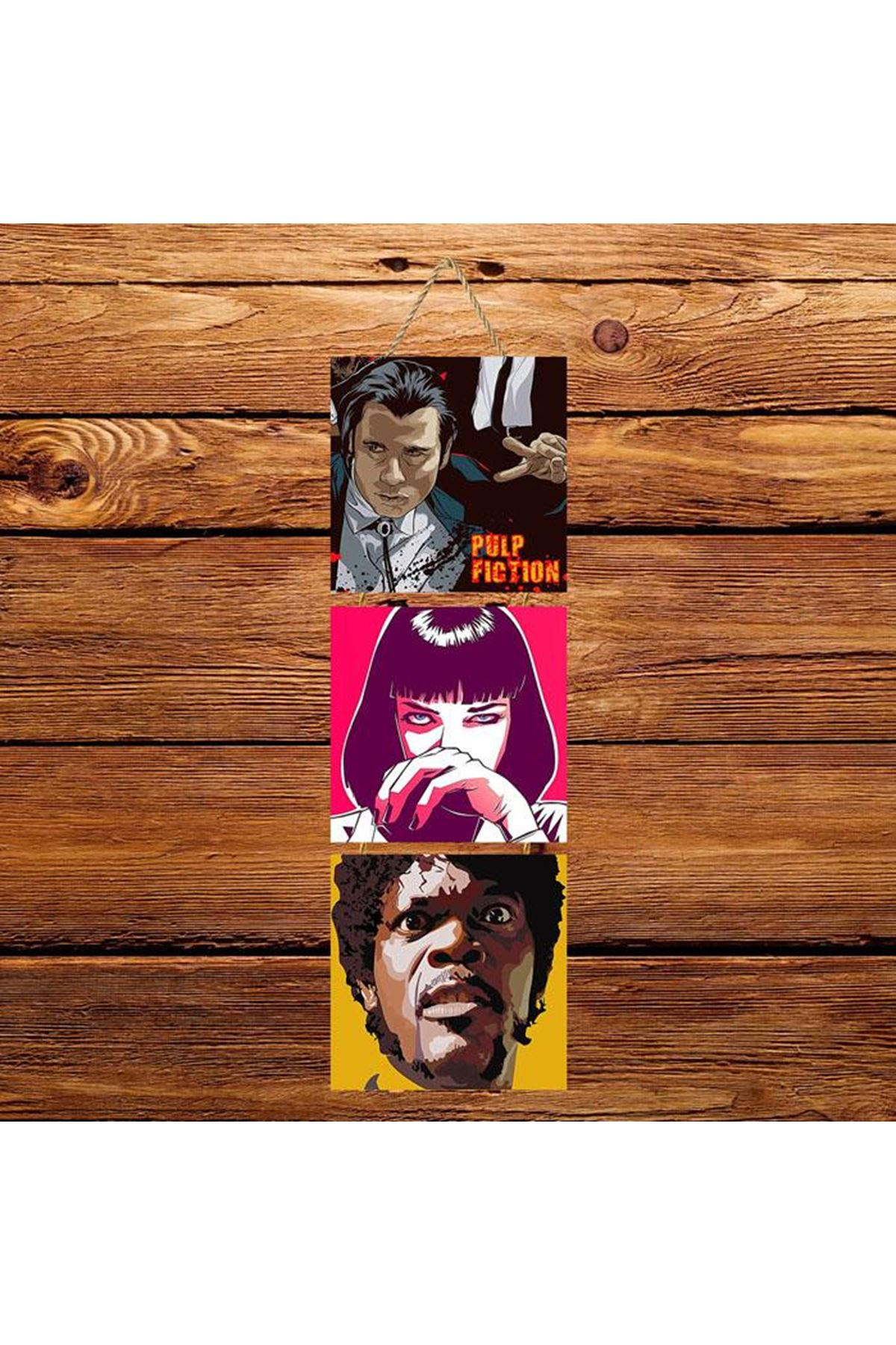 Pulp Fiction İllüstrasyon -  3'lü Kabartmasız Poster