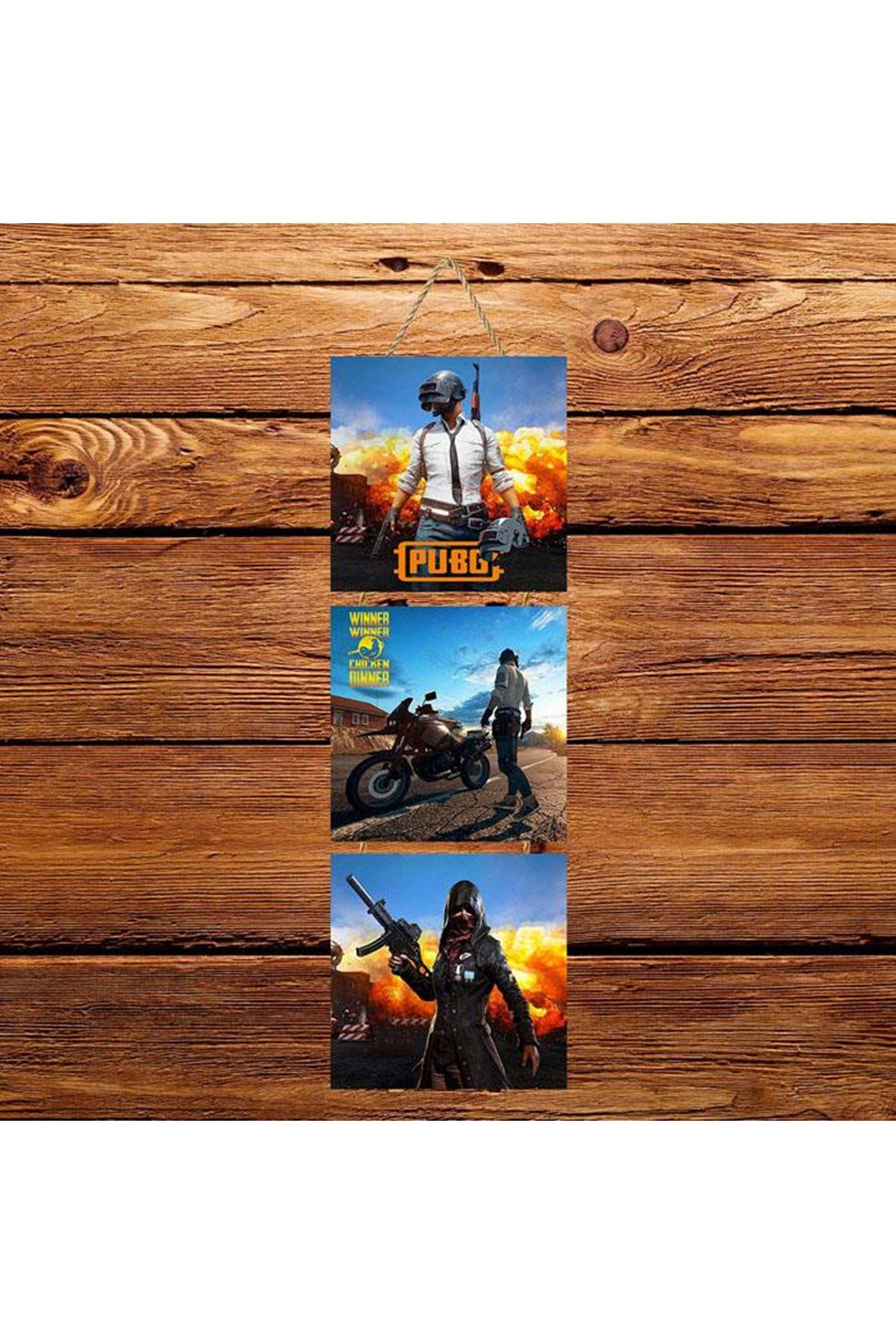 Pubg -  3'lü Kabartmasız Poster