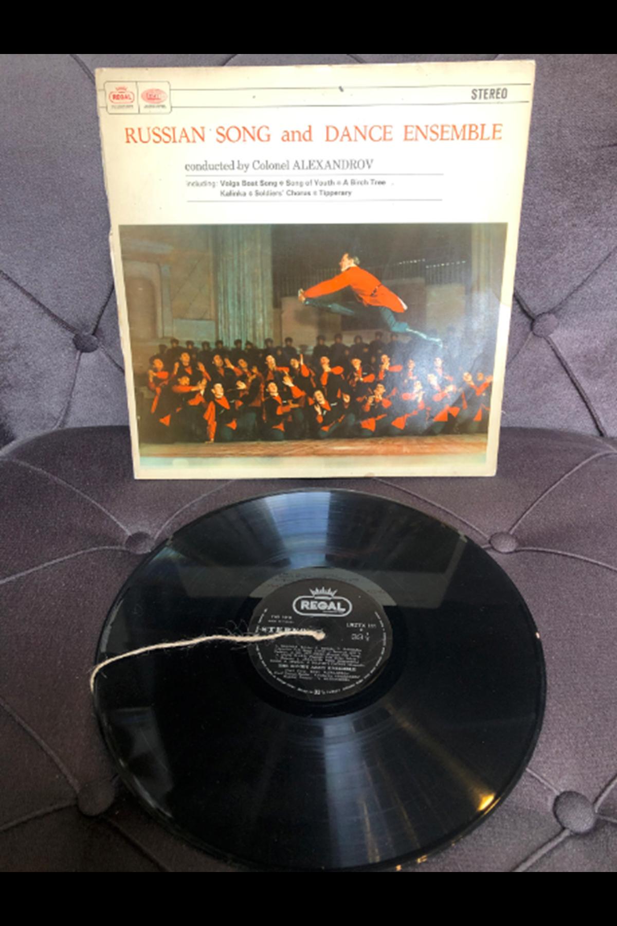 Colonel Alexandrov - Russian Song and Dance Ensemble 33'lük Plak (Orijinal Dönem Baskı)
