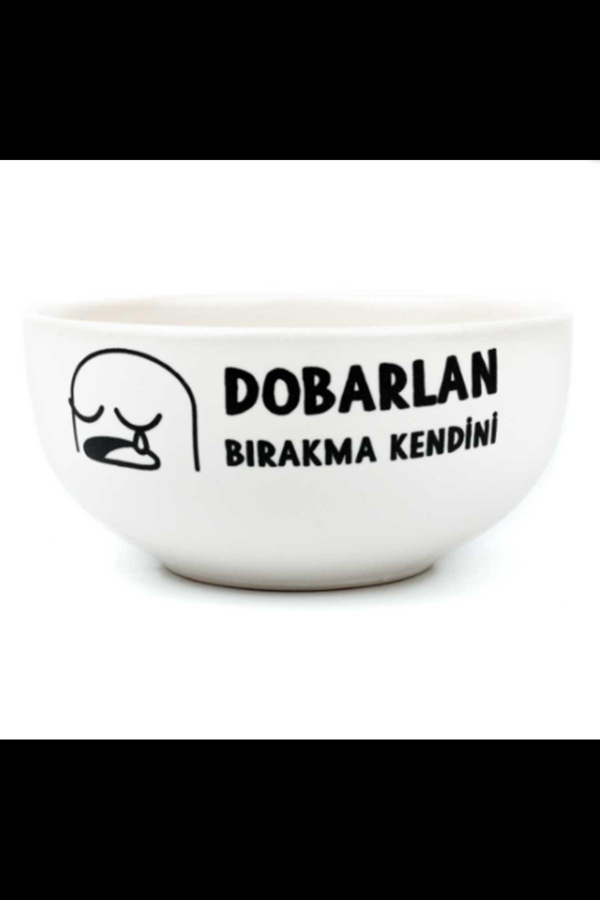DOBARLAN - TASARIM SERAMİK KASE BEYAZ