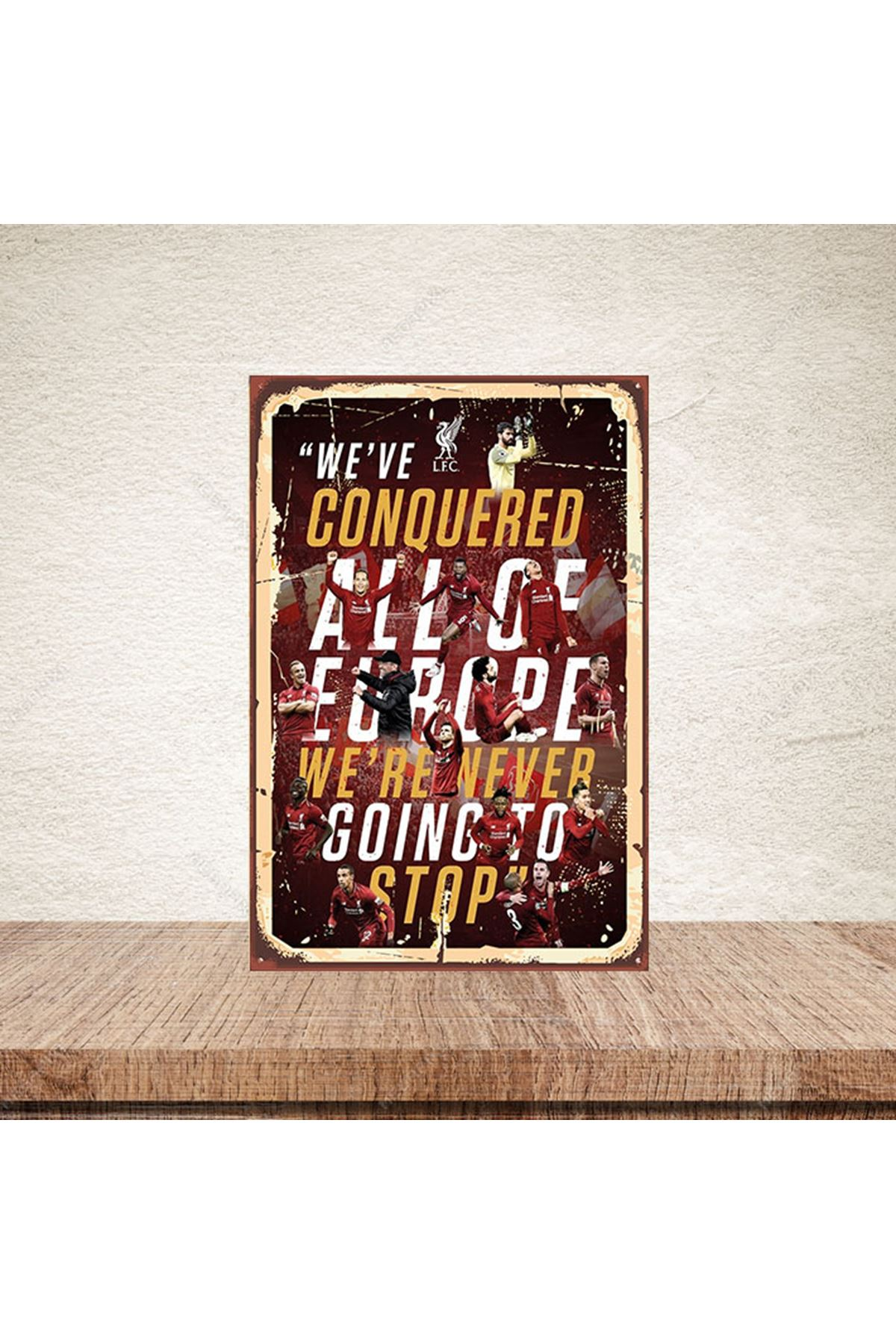 WE'VE CONQUERED - AHŞAP POSTER