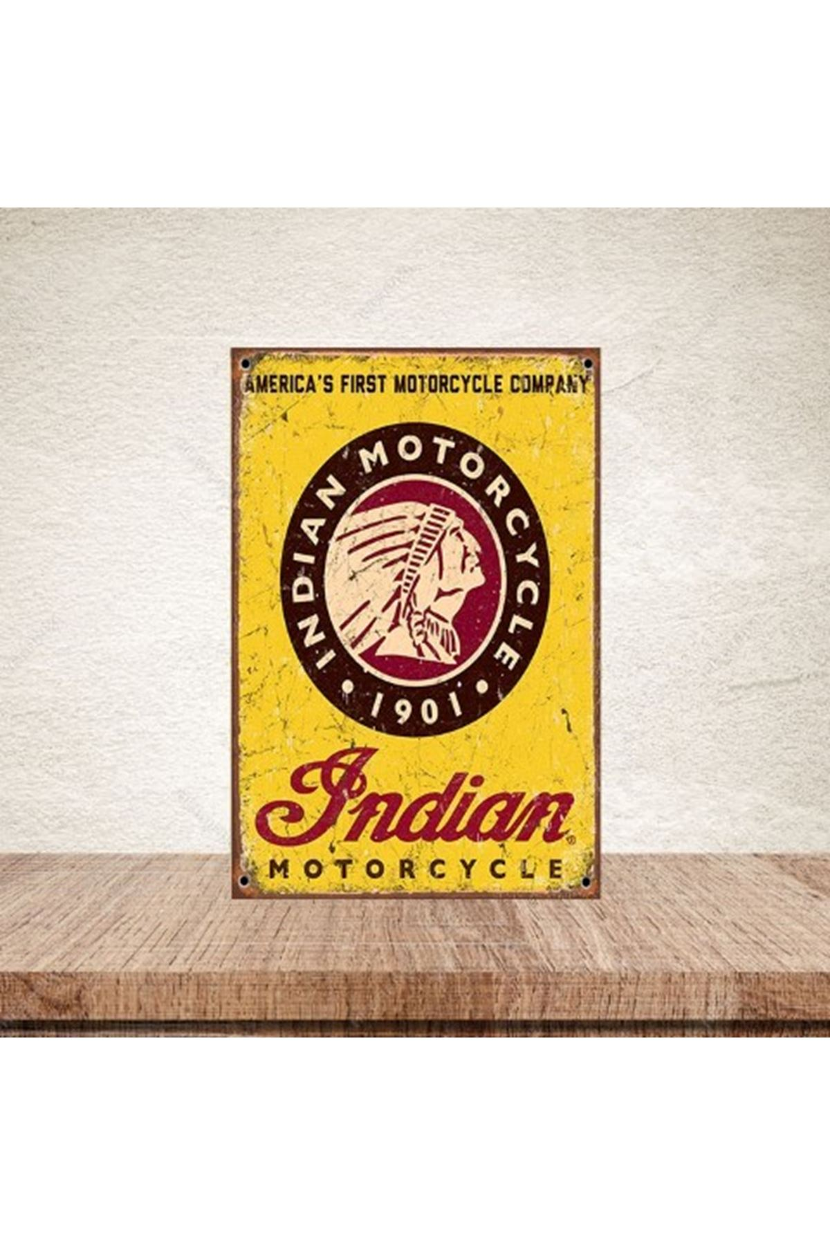 INDIAN MOTORCYCLE - AHŞAP POSTER