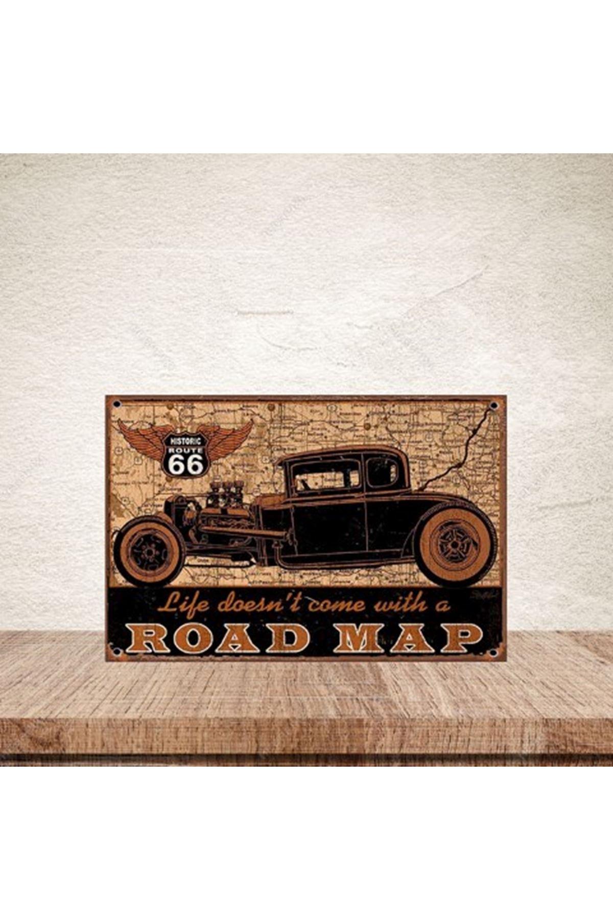 ROAD MAP - AHŞAP POSTER