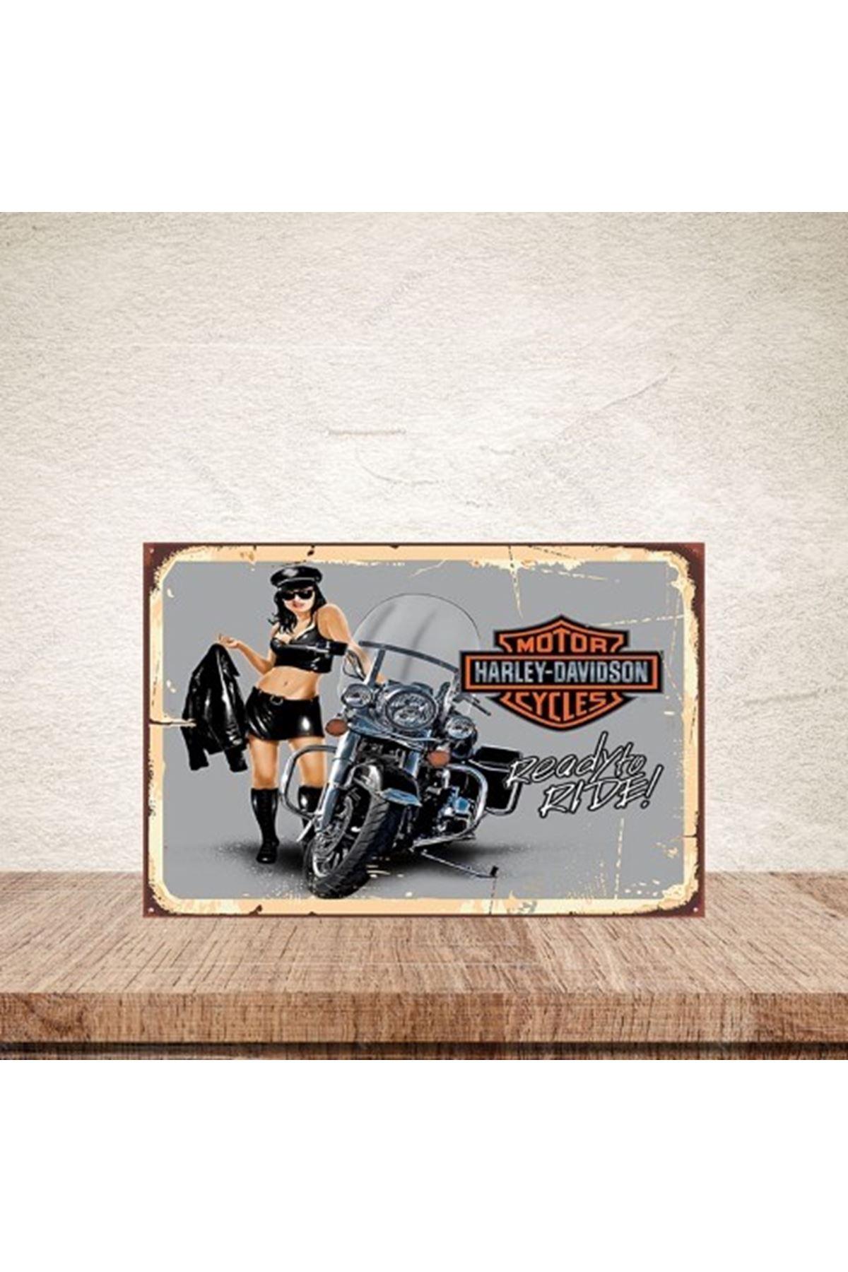HARLEY DAVİDSON MOTOR CYCLES  - AHŞAP POSTER