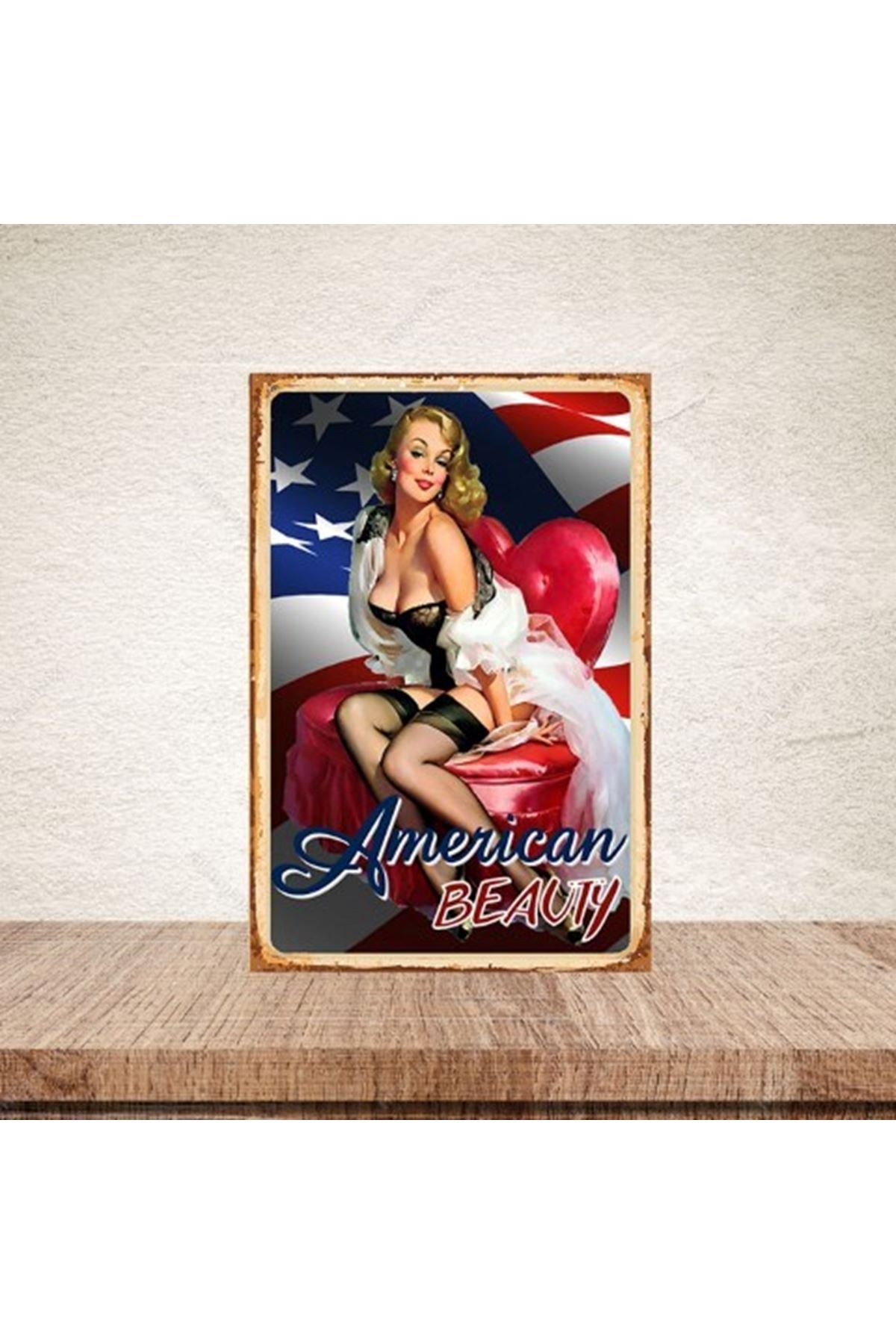 AMERİCAN BEAUTY  - AHŞAP POSTER