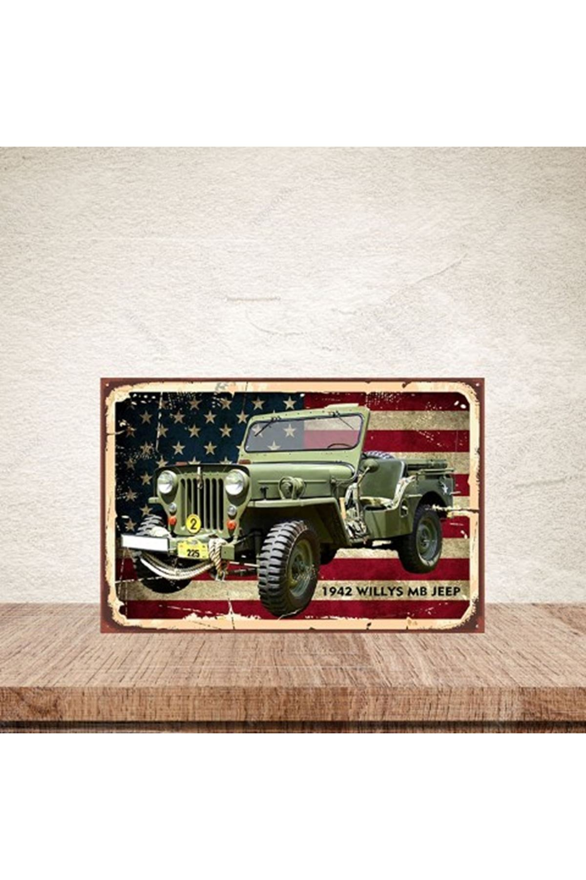 1942 WİLLYS MB JEEP - AHŞAP POSTER