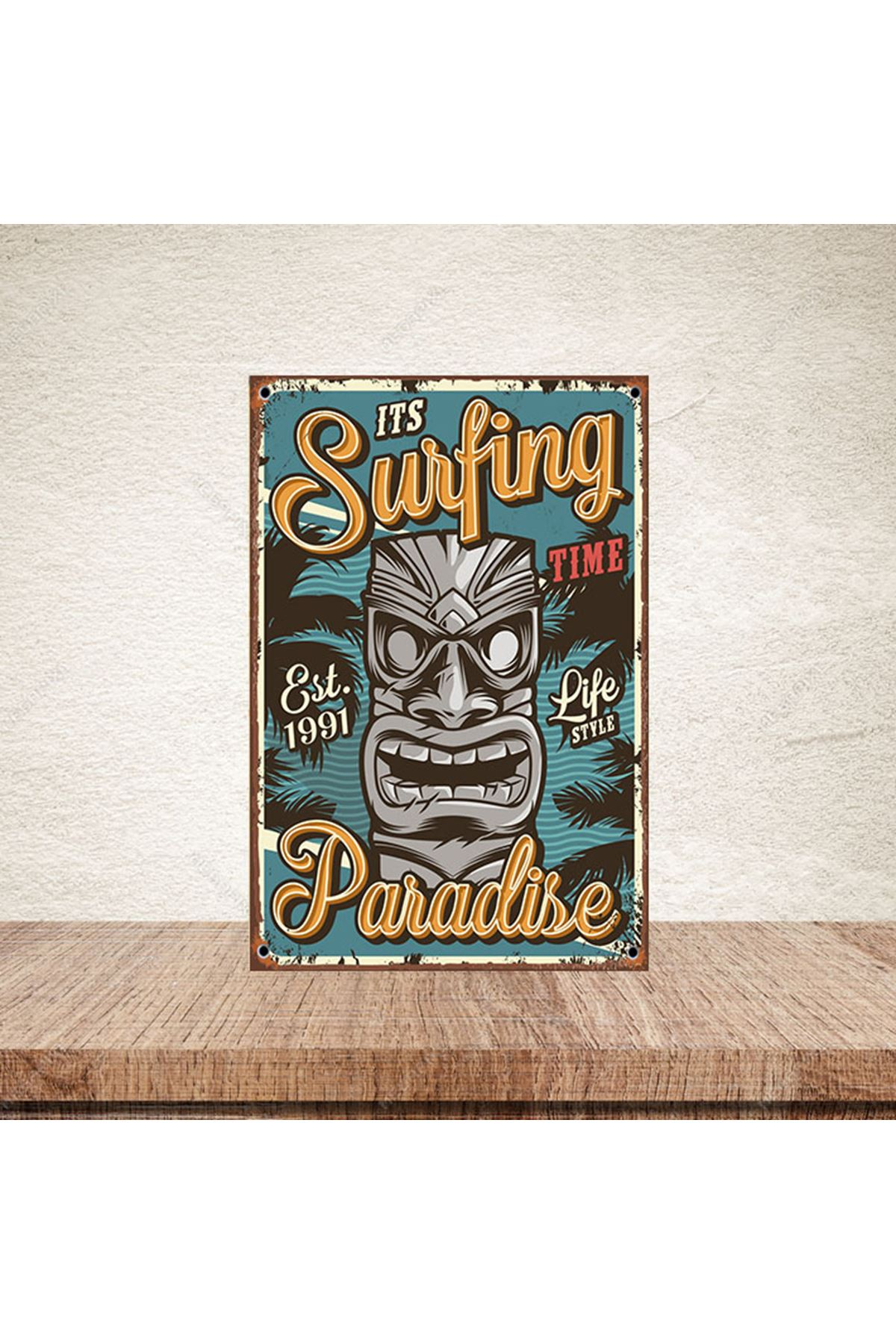 SURFİNG PARADİSE - AHŞAP POSTER