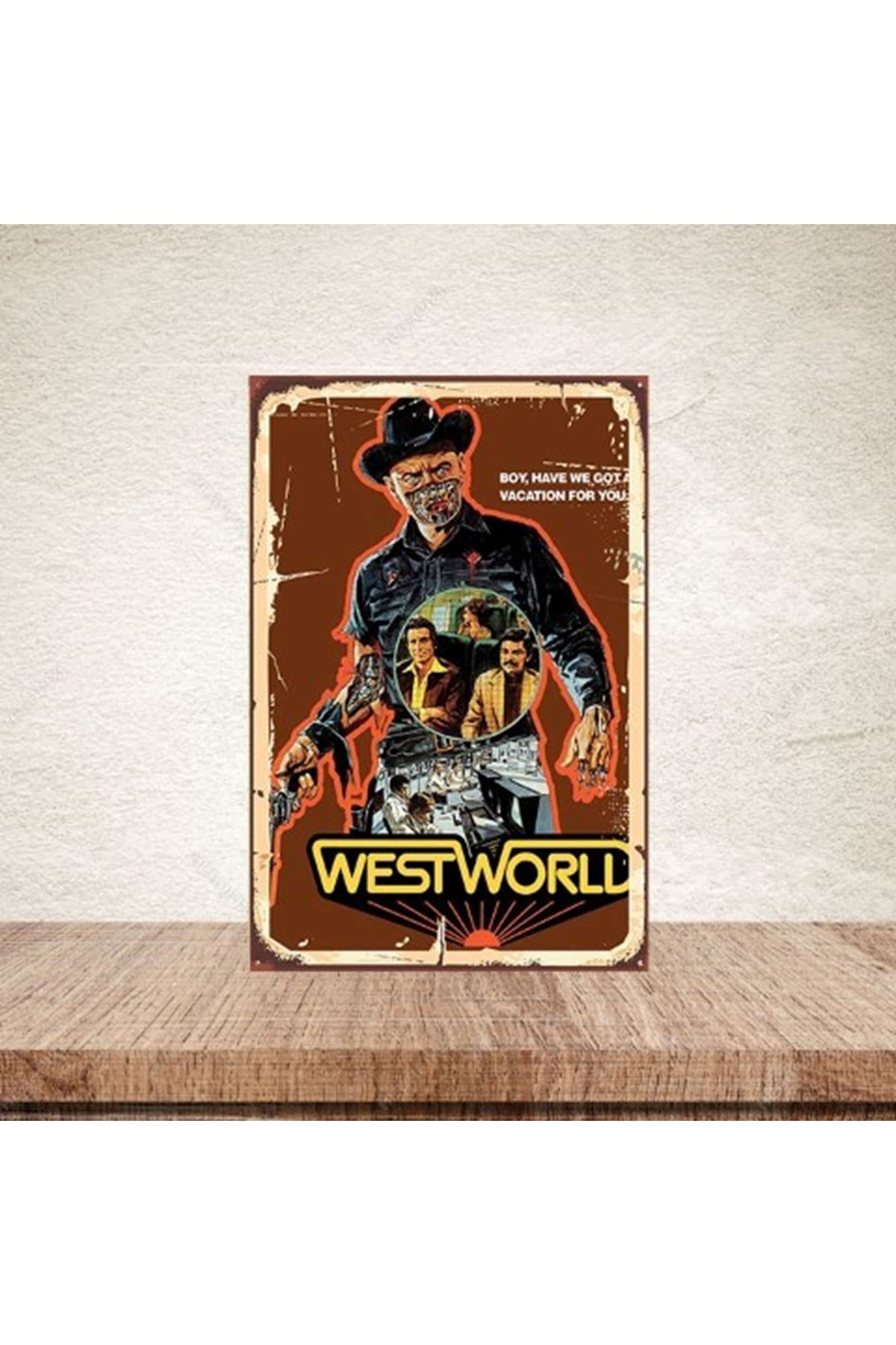 WEST WORLD - AHŞAP POSTER