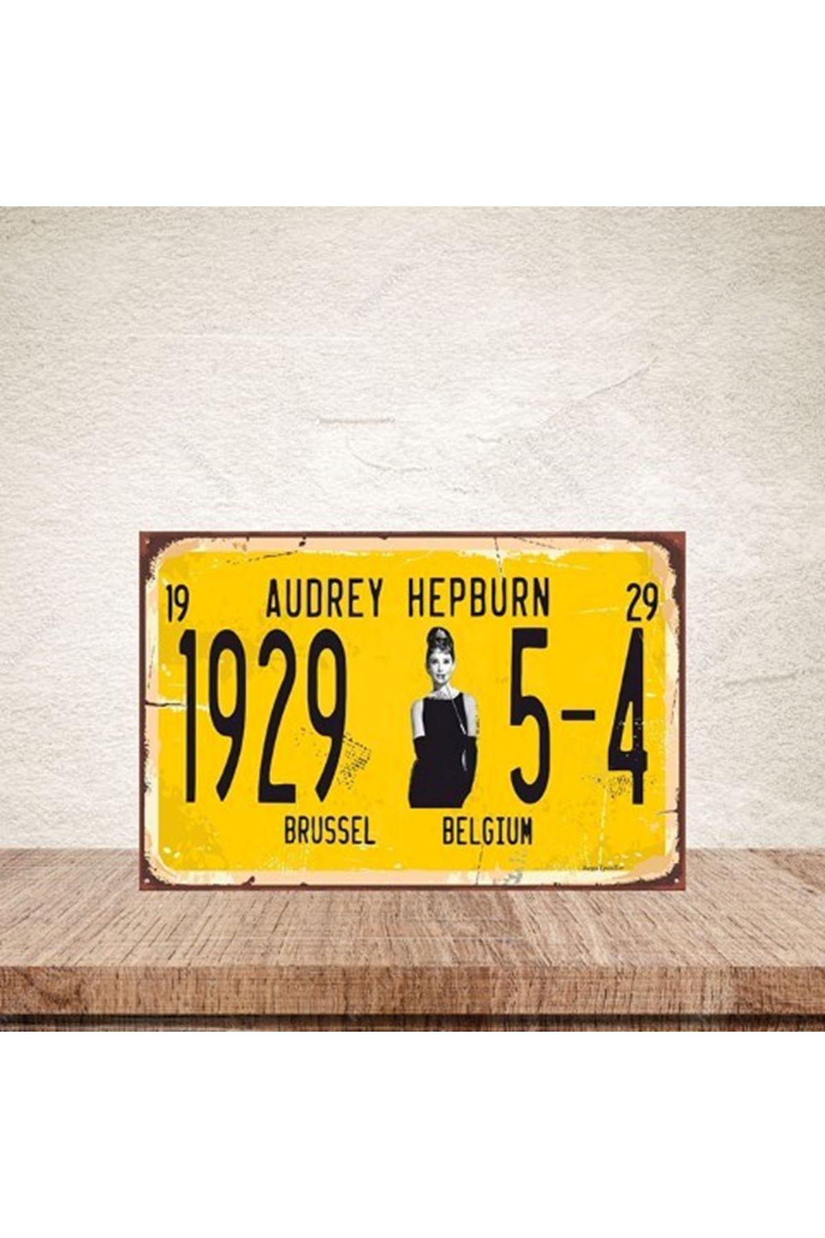 AUDREY HEPBURN 1929  - AHŞAP POSTER