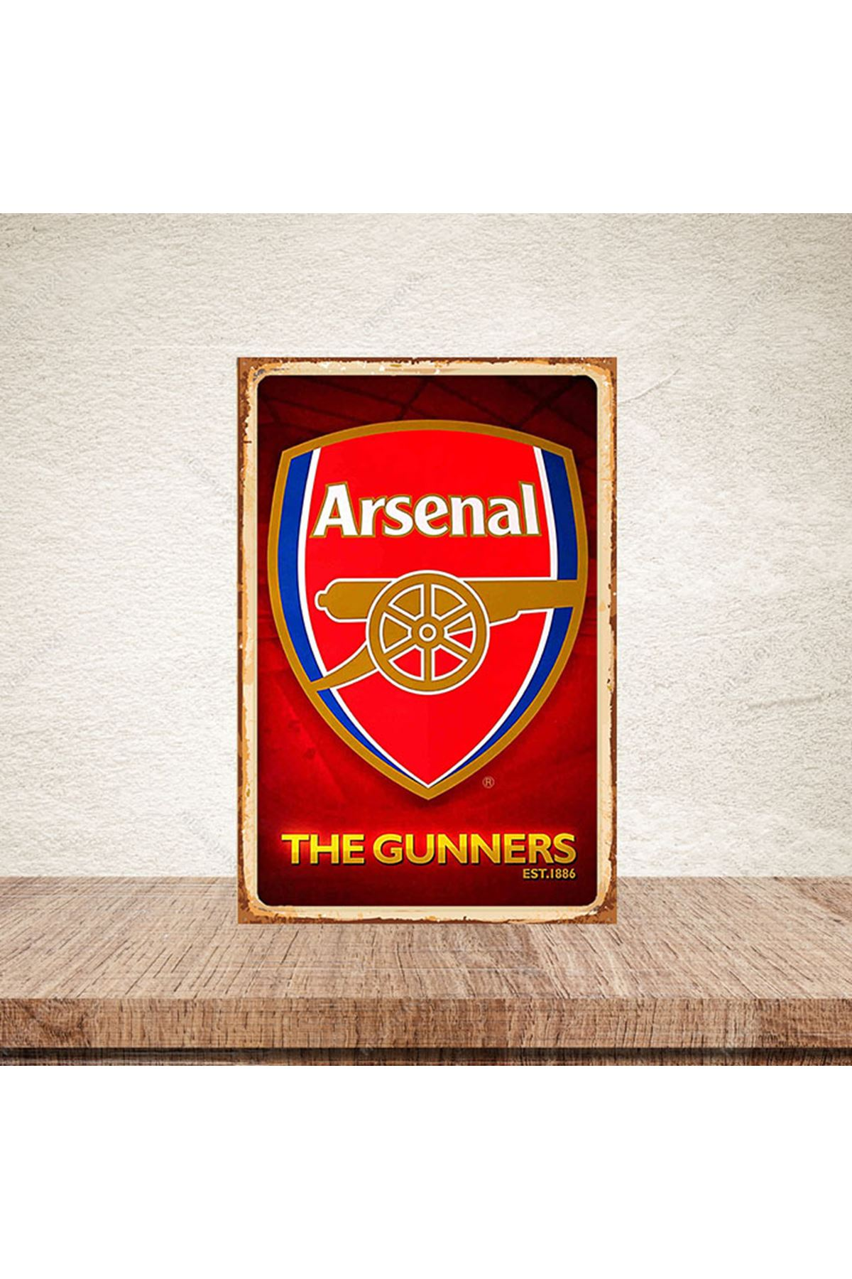 ARSENAL THE GUNNERS - AHŞAP POSTER