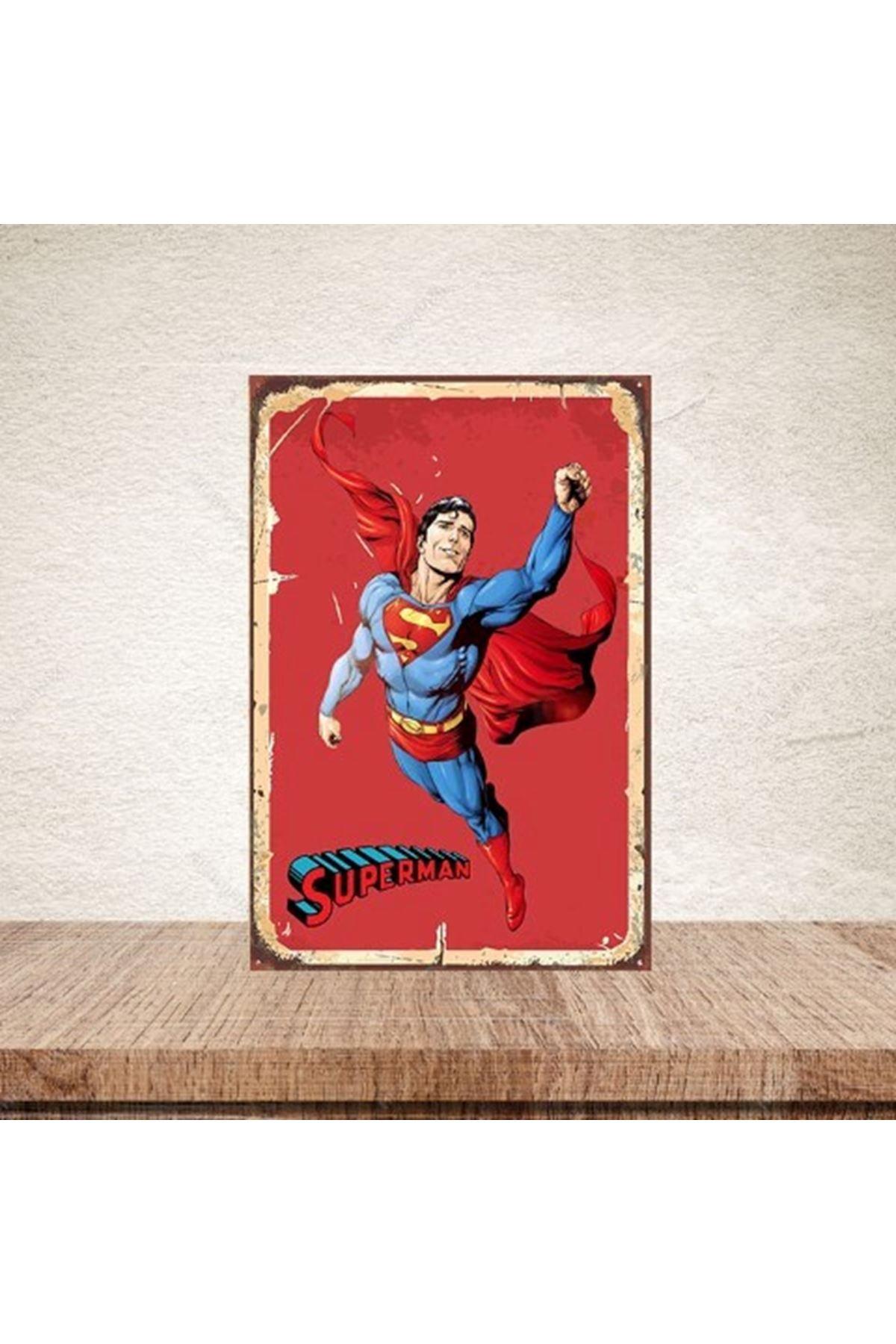 SUPERMAN - AHŞAP POSTER