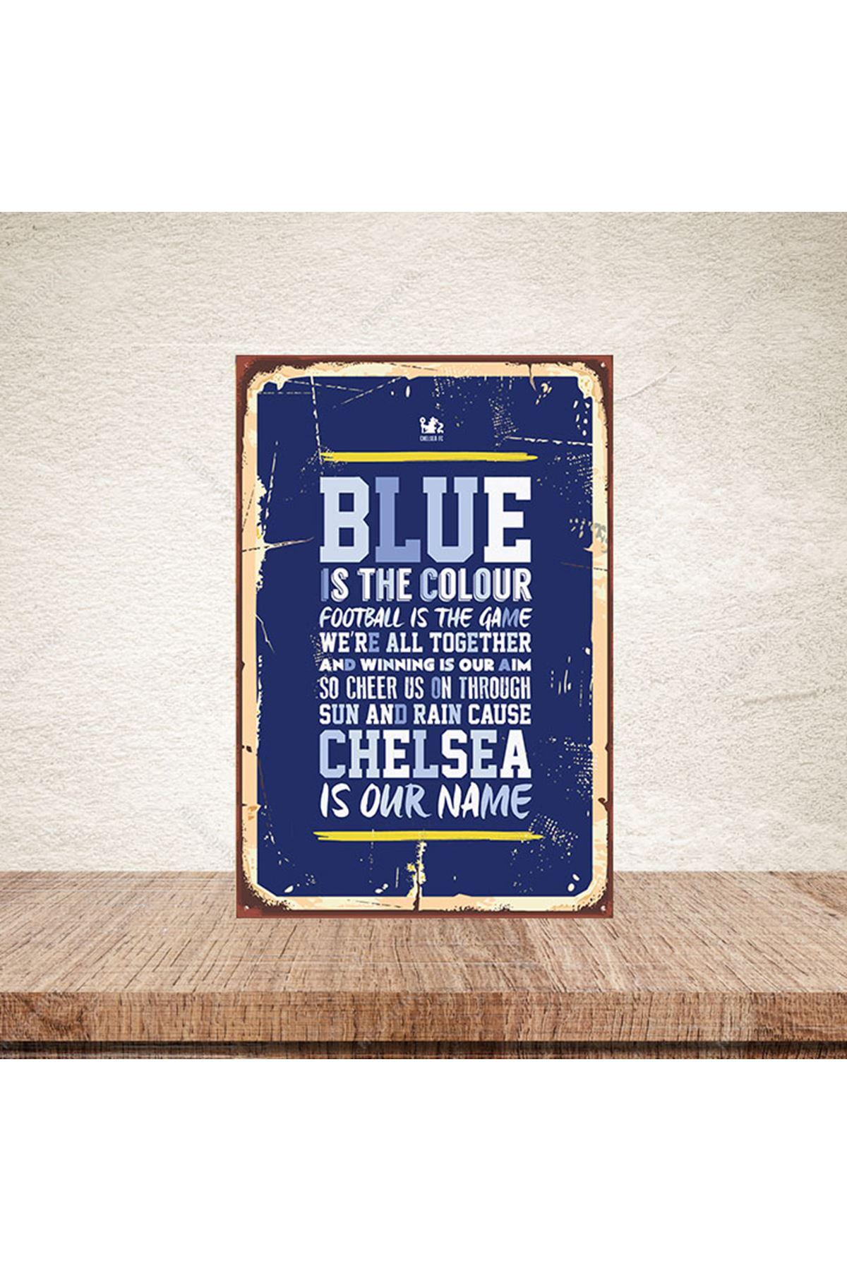 BLUE İS THE COLOUR - AHŞAP POSTER