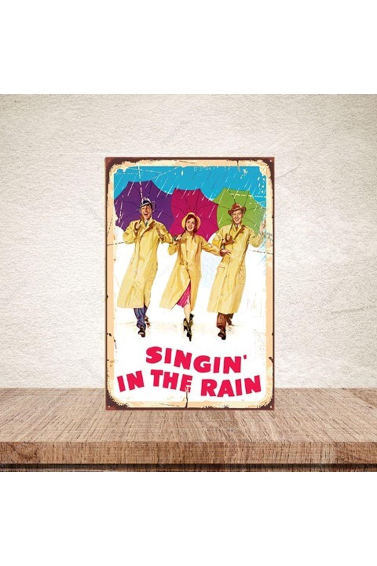 SINGIN IN THE RAIN - AHŞAP POSTER