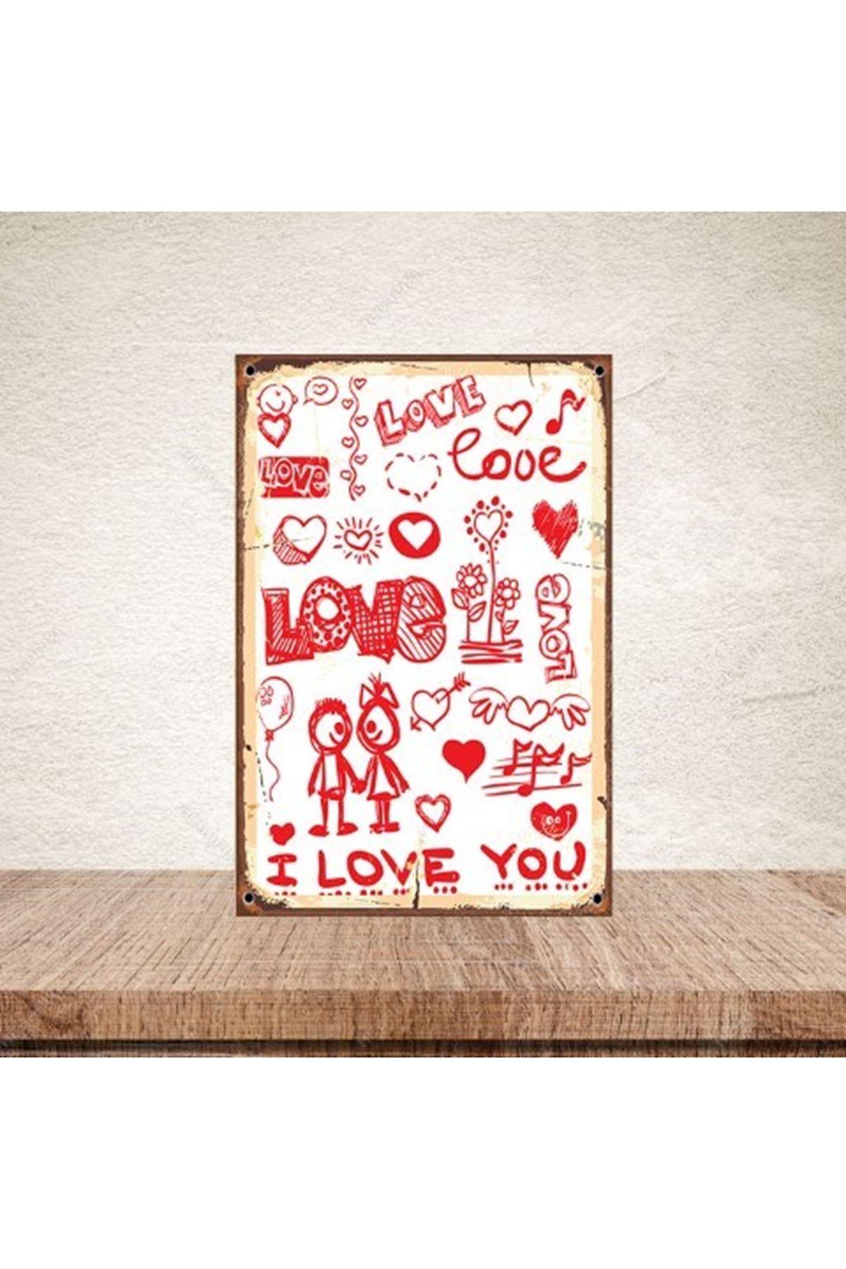 LOVE - AHŞAP POSTER