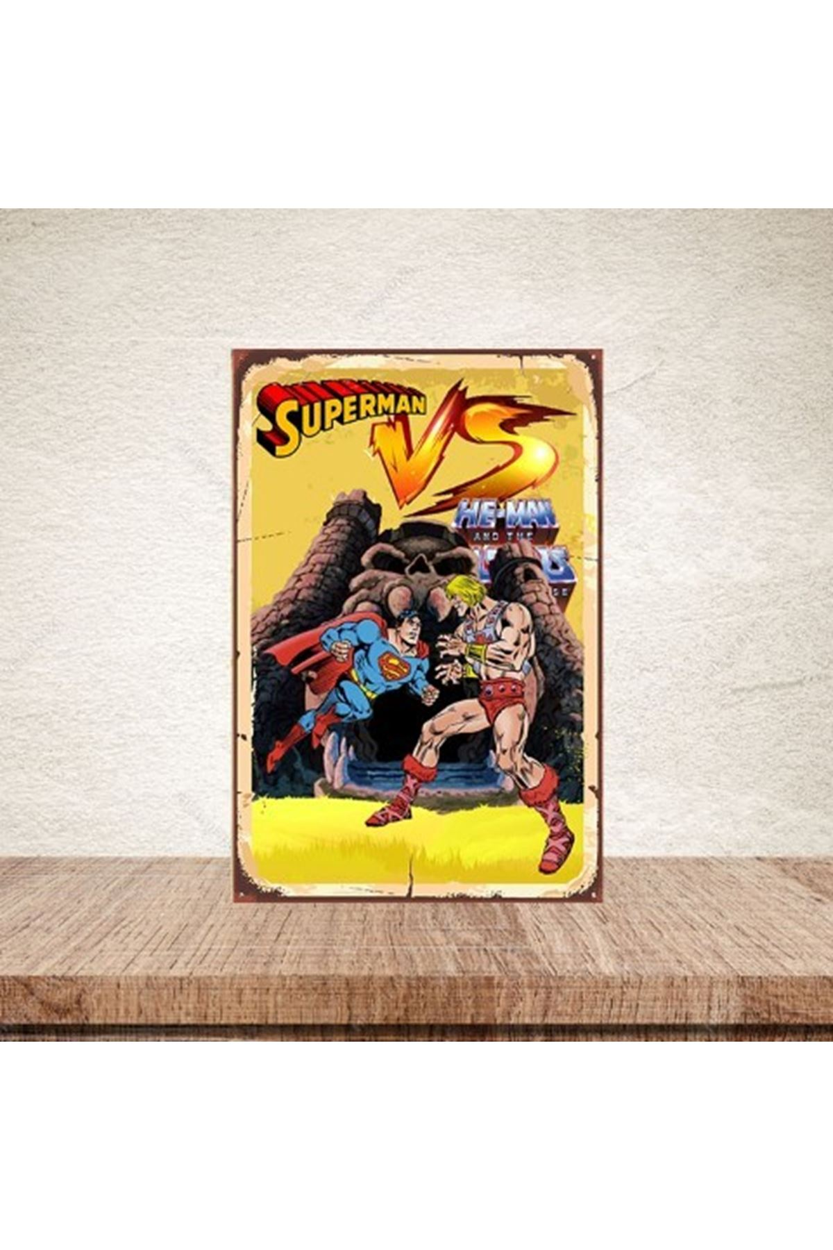 SUPERMAN HEMAN - AHŞAP POSTER