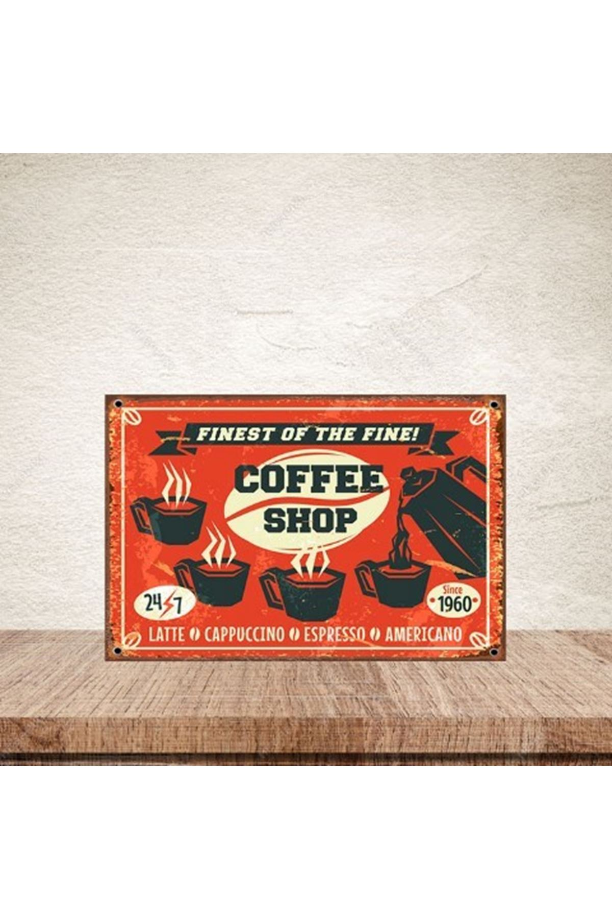 COFFEE SHOP - AHŞAP POSTER