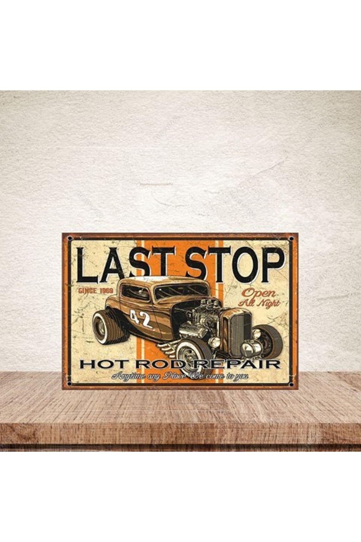 LAST STOP -AHŞAP POSTER