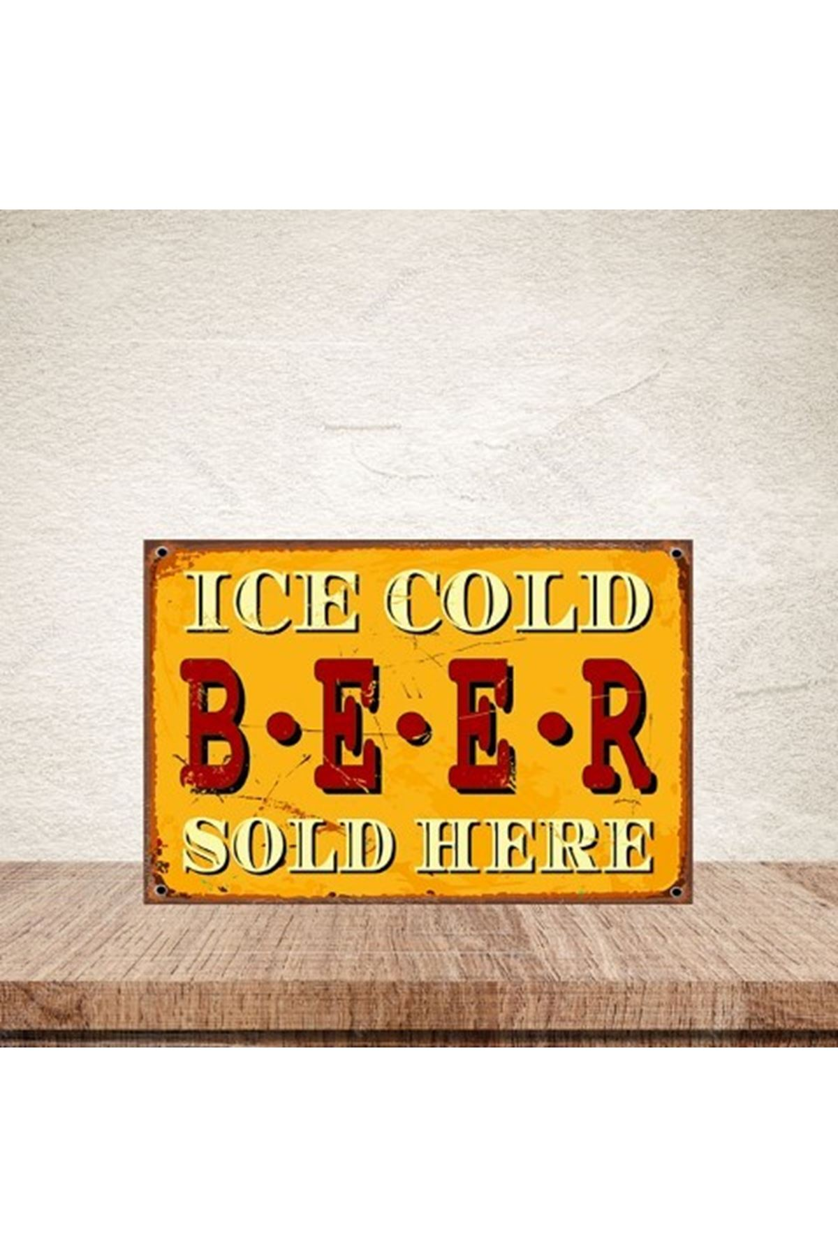 İCE COLD BEER  - AHŞAP POSTER