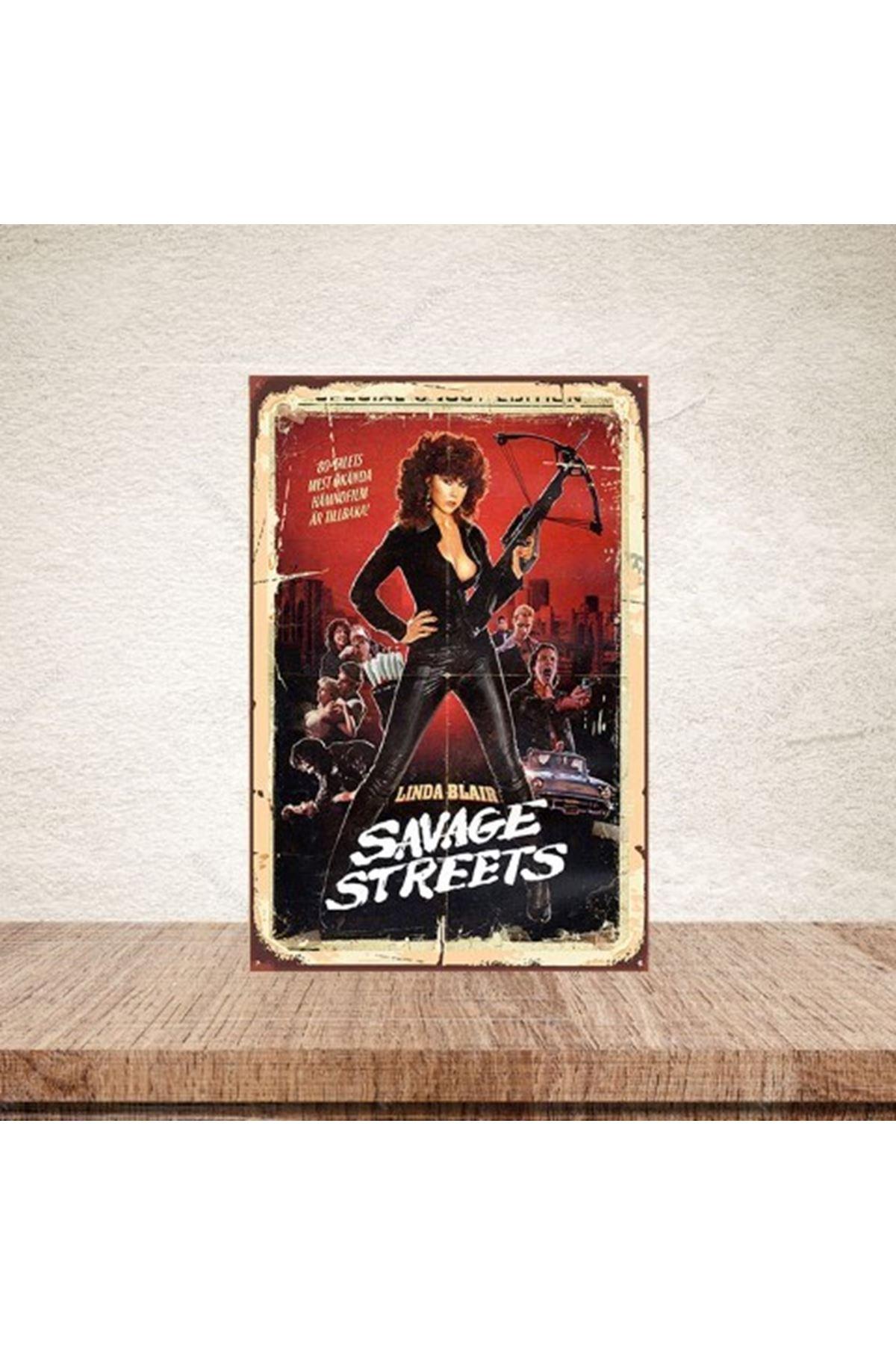 SAVAGE STREETS  - AHŞAP POSTER