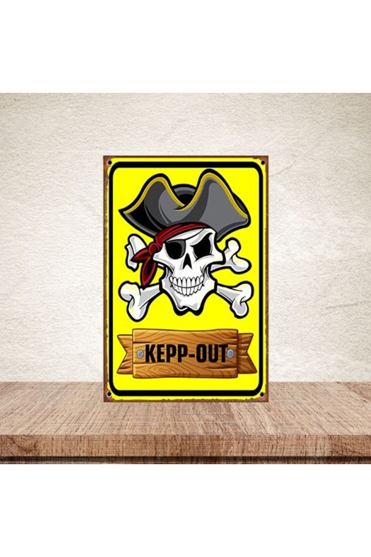 KEEP -  OUT  - AHŞAP POSTER