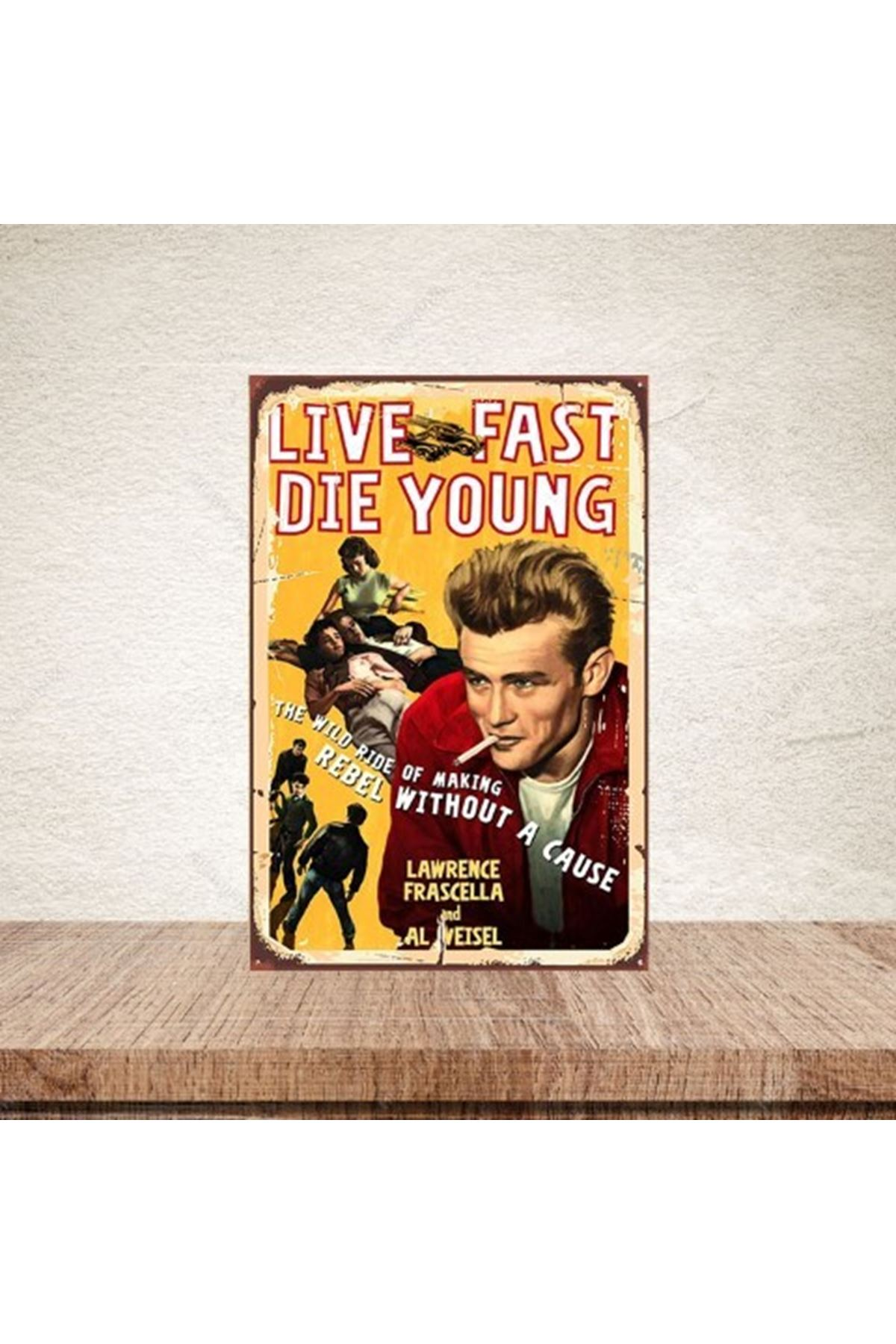 LIVE FAST DIE YOUNG  - AHŞAP POSTER
