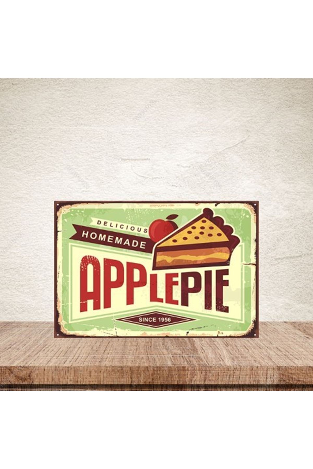DELICIOUS HOMEMADE APPLEPIE -AHŞAP POSTER