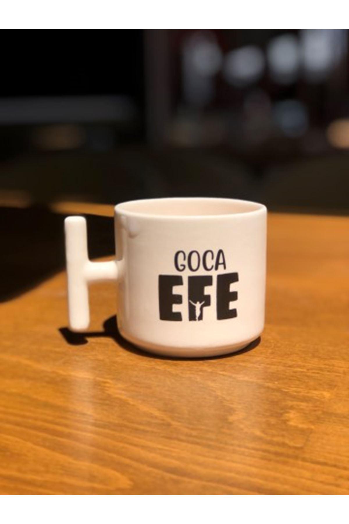 GOCA EFE -  T SERAMİK KUPA BEYAZ