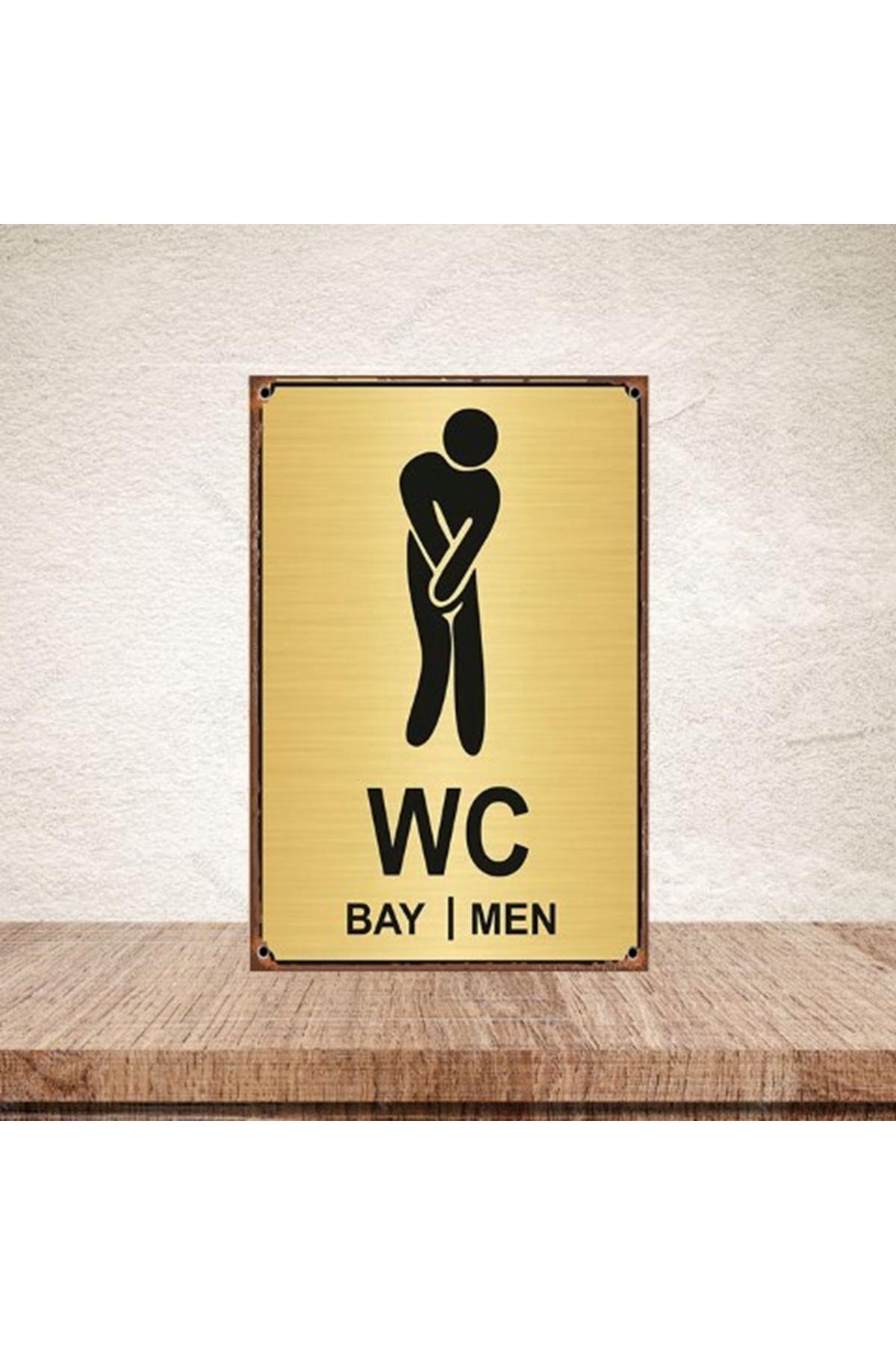 WC BAY/MEN -AHŞAP POSTER