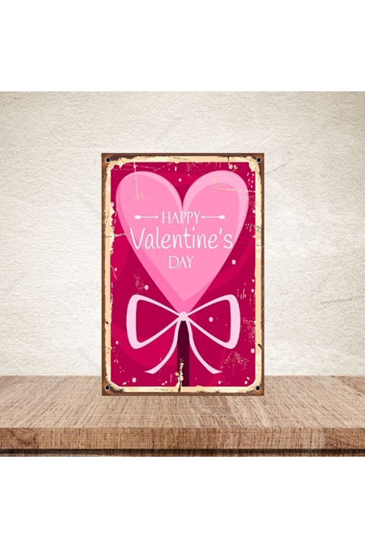 HAPPY VALENTINE'S DAY 3-AHŞAP POSTER